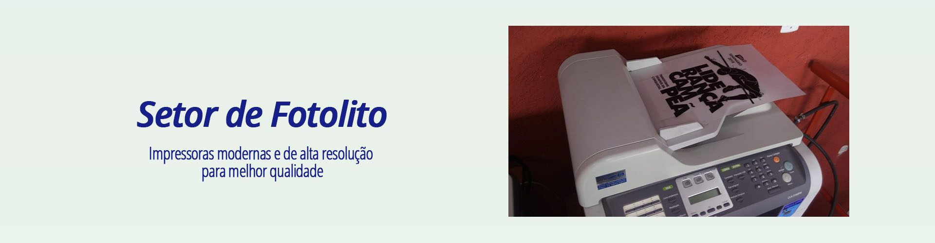 Link permanente para: Setor de Impressão de Fotolito
